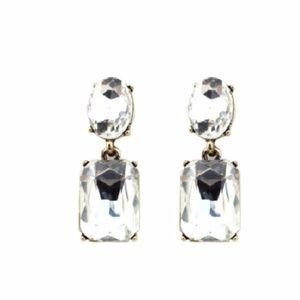 Kate Spade Crystal Double Drop Earrings